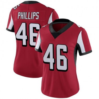 Women's Nike Atlanta Falcons Del'Shawn Phillips 100th Vapor Jersey - Red Limited