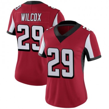 Women's Nike Atlanta Falcons J.J. Wilcox 100th Vapor Jersey - Red Limited