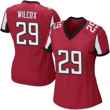 Women's Nike Atlanta Falcons J.J. Wilcox Team Color Jersey - Red Game