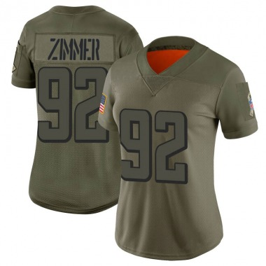 Women's Nike Atlanta Falcons Justin Zimmer 2019 Salute to Service Jersey - Camo Limited