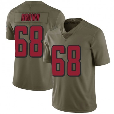 Youth Nike Atlanta Falcons Jamon Brown 2017 Salute to Service Jersey - Green Limited